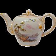 VP Scenic Faience Teapot 19th c