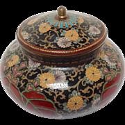 Japanese Cloisonne Covered Jar 19th c