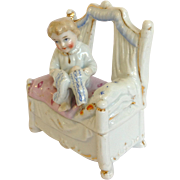 Antique Child in Bed Faring by Conta & Boehme