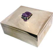 Fred Davis Sterling And Amethyst Box