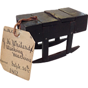 Patent Model Washing Machine c1862