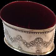 Antique Pincushion or Box English Sterling