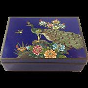 Ando Japanese Cloisonne Peacock Box