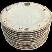 "12 Rockefeller Swan Service Plates Mottahedeh 10.5"""