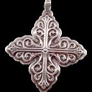 Reed & Barton Christmas Cross Ornament Sterling 1978