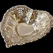 Gorham Sterling Silver Heart Bonbon Dish