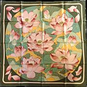 "Hermes ""Fleurs De Lotus"" Silk Scarf 35"""