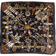 Hermes Kachinas Scarf by Kermit Oliver 34""