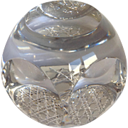 French Paperweight Cut Crystal By Cristallerie C. 1880's