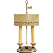 Ivory Tole Two Light Table Lamp
