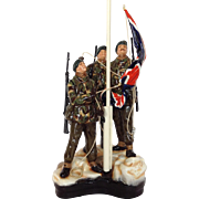 Michael Sutty Royal Marines Limited Edition Victory in the Falklands Porcelain Figure