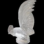 Lalique Le Coq Nain Frosted Glass Figurine