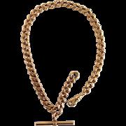 Antique Gold Watch Chain 14k