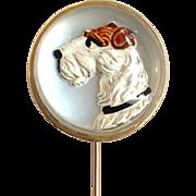 Essex Crystal Dog Stick Pin 14k