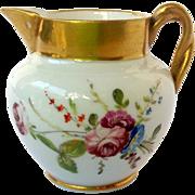 Spode Miniature Creamer Porcelain Hand Painted Flowers