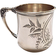 Victorian Sterling Child's Cup Engraved Never Monogrammed!