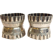 Pair Coin Napkin Rings.