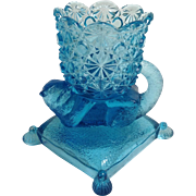 Badger Blue Glass Footed Salt