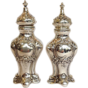 Gorham Sterling Chantilly Salt and Pepper Shakers