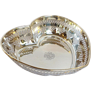 """Pierced Heart Bowl Sterling Whiting 10"""" Circa 1930's"""