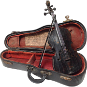 Antique Miniature Cello Handmade Martin Cullier Paris 1907