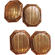 Deco Cufflinks Double Sided No Mono! 14k