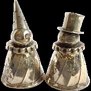 Salt And Pepper Japanese Clowns 950 Silver