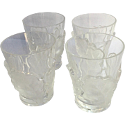 Four Lalique Oak Leaf Tumblers