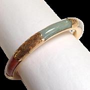 Multi Color 14k Jade Bangle Bracelet