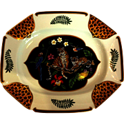 "Jaguar Jungle Octagonal Serving Platter 14"" by Chase"