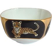 Jaguar Jungle Fruit or Dessert Bowl by Lynn Chase