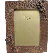 Bronze Frame With  Nude Figures by Acevedo Signed