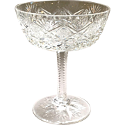 St Louis Florence Clear Sherbet Champagne Glass 5""