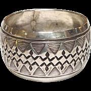 Navajo Sterling Napkin Ring Geometric