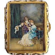 Watercolor Painting Box 19th C. French