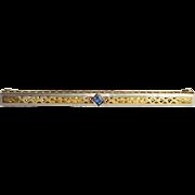 Antique Sapphire Bar Pin
