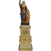 "St. Anne Painted Iron 14"" Statue"