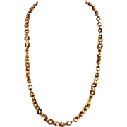 """French Gold Link 22"""" Necklace 14K"""