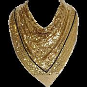 Vintage Whiting & Davis Metallic Mesh Drape Scarf