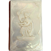Leda and Swan Mother Of Pearl Memo Book Victorian