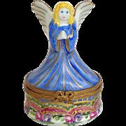 Limoges Angel Trinket Box
