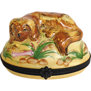 Limoges Spaniel Trinket Box for Horchow