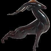 Loet Vanderveen Springbok Gazelle Sculpture Bronze #174/750