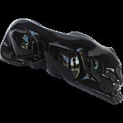 """Baccarat Black Crystal Jaguar 10"""""""