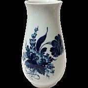"Vintage Royal Copenhagen Flo Blue Flowers Vase 10"""