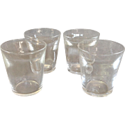 Four Steuben Double Old Fashioned Glasses