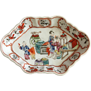 Chinese Export Dish Figural Scene Antique