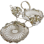 English Strawberry Stand Silver Circa 1880-1910