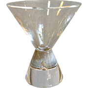 Steuben Crystal 7826 Cocktail Glass Teardrop Stem