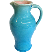Pisgah Forest Turquoise Blue Pitcher 1942
